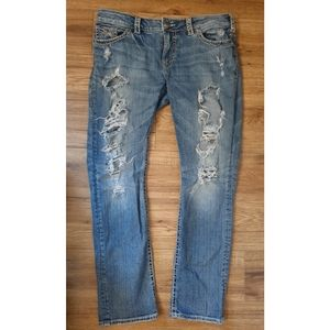 Silver Jeans Co Distressed